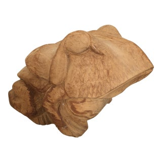 Carved Wood Frog by Arthur Court For Sale