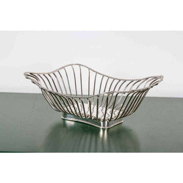 Pair of Italian Silver Plate Wire Baskets For Sale In New York - Image 6 of 8