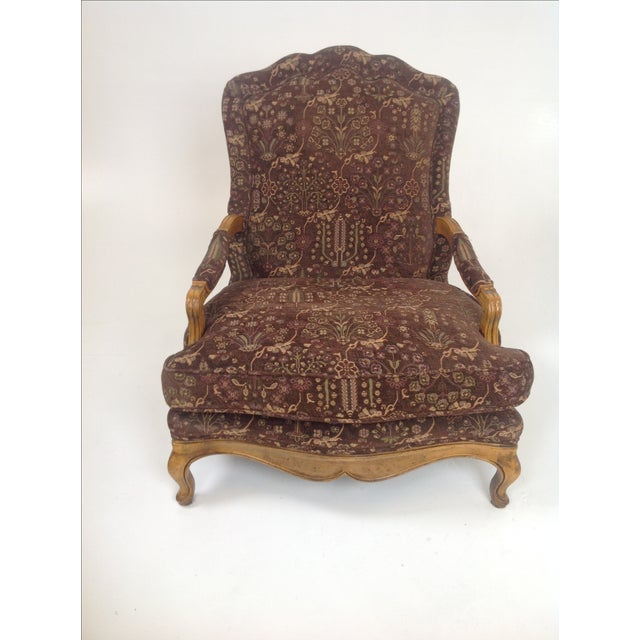 Baker Country French Lounge Chair & Ottoman - Image 3 of 8