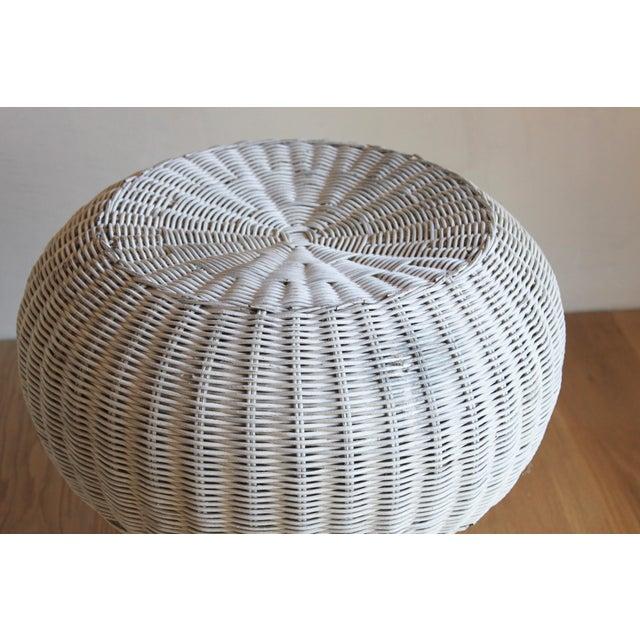 Isamu Kenmochi for Yamakawa Japan Rattan Lounge Chair & Side Table For Sale - Image 10 of 13