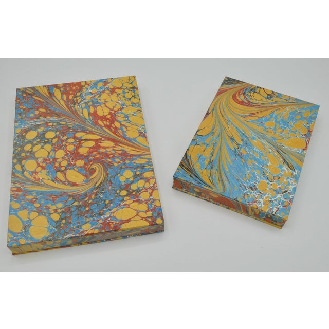 Paper Yellow & Blue Coptic Notebooks- a Pair For Sale - Image 7 of 12