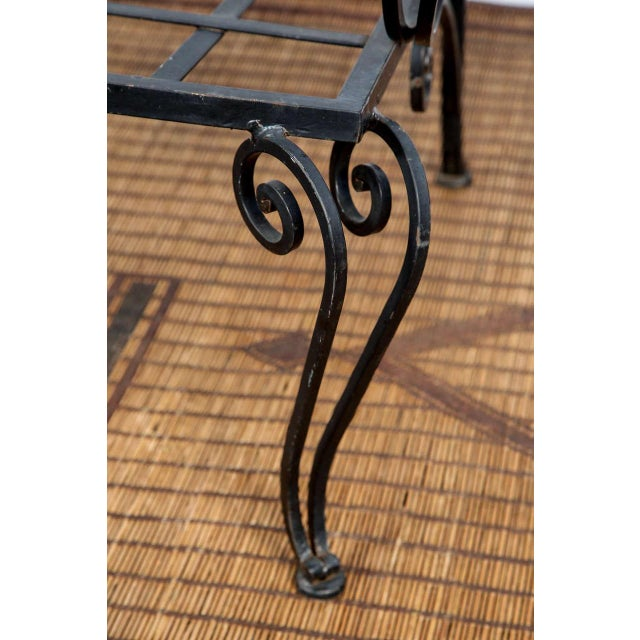 French Pair of Iron French Armchairs in the Style of j.c. Moreux For Sale - Image 3 of 10
