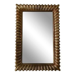 Hollywood Regency Sunburst Rectangular Mirror, Syroco (Syracuse Ornamental Company). For Sale