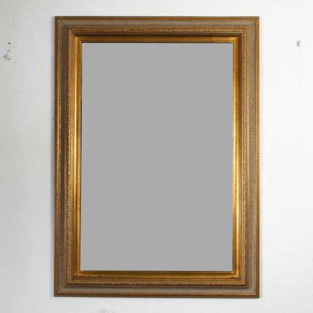 2000s Gilt Gold Green Mirror For Sale - Image 5 of 5