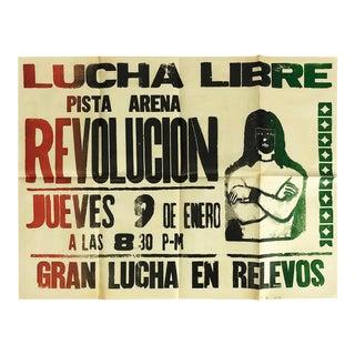 Original Mexican Wrestling Poster 'Arena Revolución' For Sale