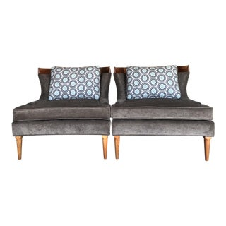 Mid Century Modern Atomic Lounge Club Chairs- A Pair For Sale