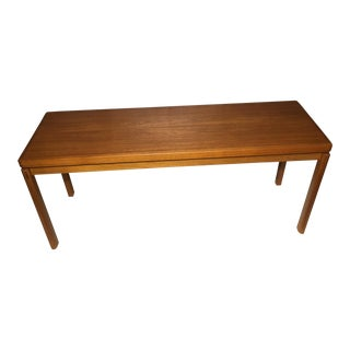 1960s Danish Modern Solid Teak Console Table For Sale