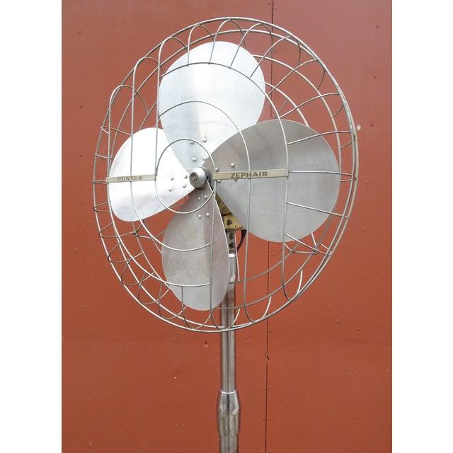 Hunter Zephair 2430 Bullet Back Industrial Pedestal Floor Fan For Sale - Image 6 of 13
