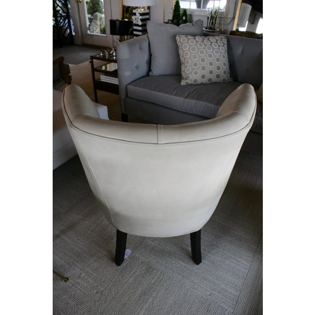 2000 - 2009 Marvell Ivory Leather Goodman Chair For Sale - Image 5 of 5