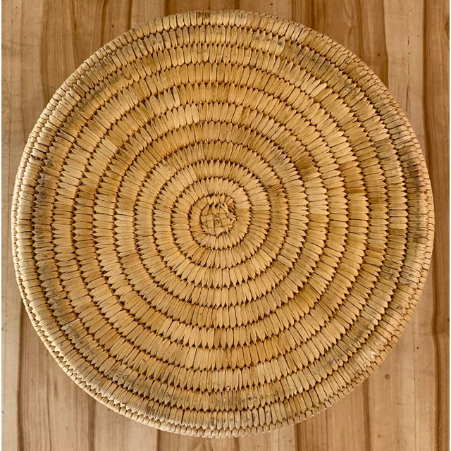 Authentic Vintage Native American Tohono O'Odham Woven Basket For Sale - Image 9 of 10