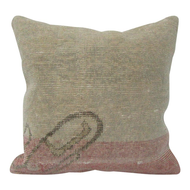 Vintage Turkish Decorative Handmade Pillow Cover For Sale