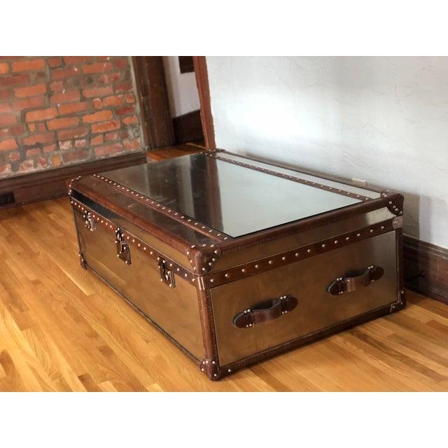 Outstanding Restoration Hardware Mayfair Steamer Trunk Coffee Table Evergreenethics Interior Chair Design Evergreenethicsorg