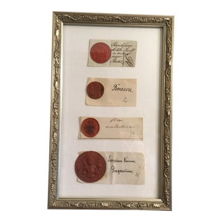 18th 19th Century Antique European Plaster Intaglios - Set of 4 For Sale