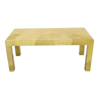 1960s Mid-Century Modern Goat Skin Parchment Coffee Table For Sale