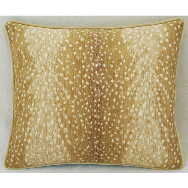 """Contemporary Custom Tailored Antelope Fawn Spot Velvet Feather Down Pillows 21"""" X 18"""" - Pair For Sale - Image 3 of 12"""
