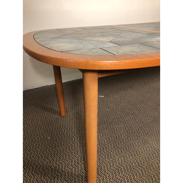 Mid-Century Modern Danish Teak and Tile Extending Dining Table Seats 10 For Sale - Image 3 of 13