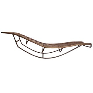 Bronze Walter Lamb Chaise Rocking Lounge Chair Patio Outdoor Brown Jordan For Sale