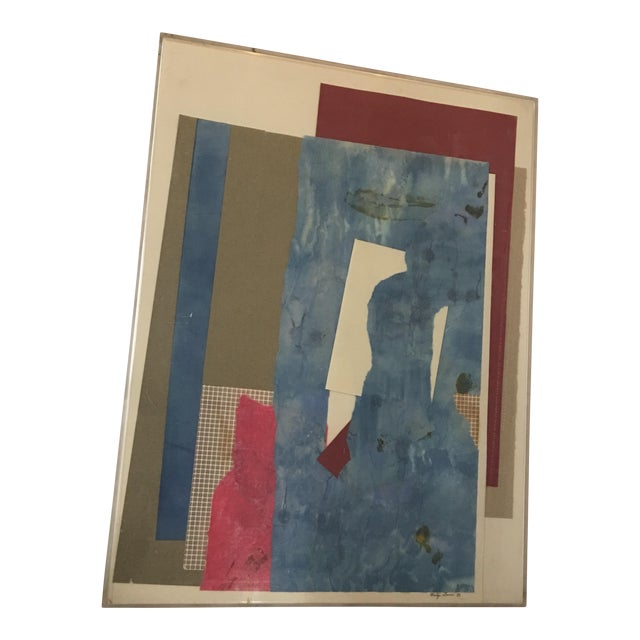 Mitzi Levin Abstract Collage, 1983 - Image 1 of 10