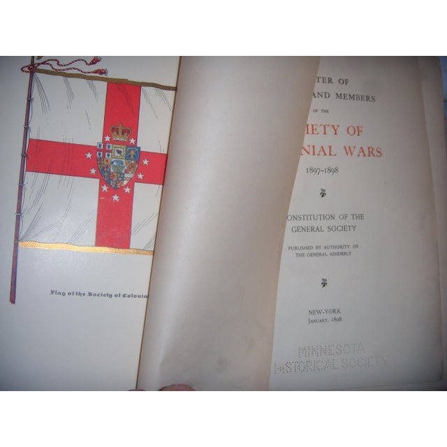 Antique 1896 - 1927 Society of Colonial Wars Books - S/9 - Image 11 of 11