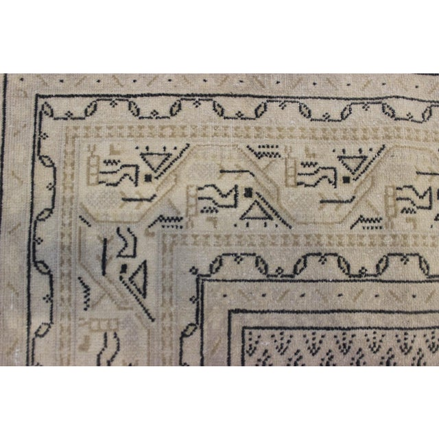 Tan Vintage Hand-Woven Overdyed Rug - 6′2″ × 9′2″ - Image 6 of 9