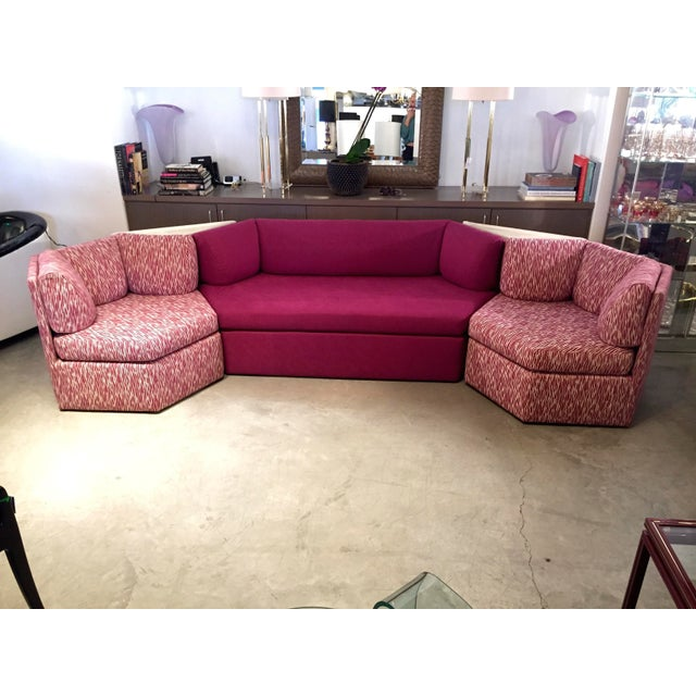 Vintage Reupholstered Milo Baughman Five-Piece Sectional Sofa by Thayer Coggin - Image 2 of 9