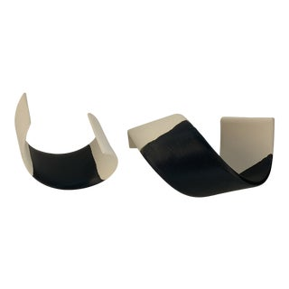 Möbius Strips Ceramic Sculptures - a Pair For Sale