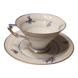 Vintage Weimar Porcelain Tea Cup and Saucer For Sale