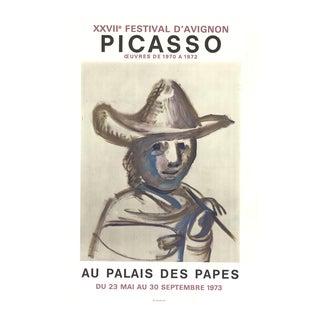 """PABLO PICASSO XXVII Festival D'Avignon 30.25"""" x 20.5"""" Lithograph 1973 Cubism Brown For Sale"""