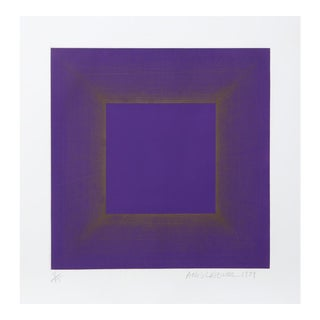 Richard Anuszkiewicz, Midnight Suite (Purple with silver), 1979 For Sale