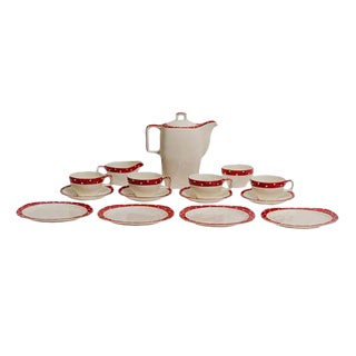 Mid-Century Modern Polka Dot Coffee Set For Sale