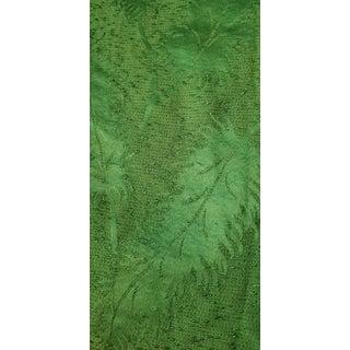 Mid Century Hollywood or Palm Beach Regency Palm Frond Barkcloth Fabric Piece For Sale