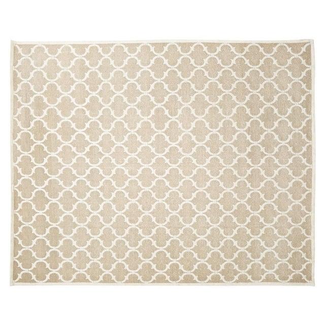 "Contemporary Stark Studio Rugs Contemporary Linen Soumak Rug - 9'10"" X 13'9"" For Sale - Image 3 of 3"