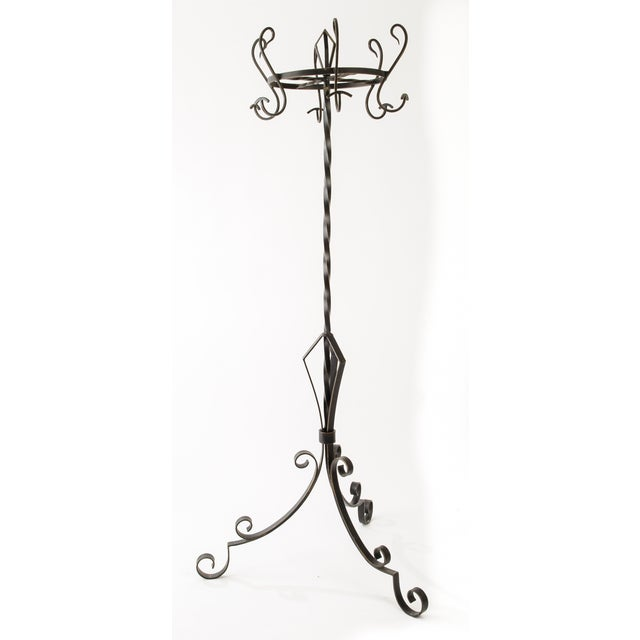 French Industrial Style Iron Hat and Coat Stand - Image 2 of 5