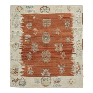 Turkish Kilim Rug with Tribal Style
