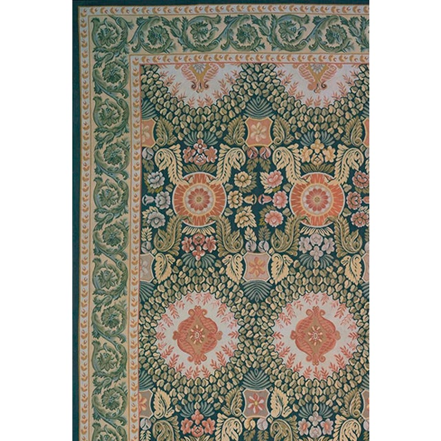 This is a beautiful hand-woven French Aubusson Design Area Rug. Its elegant style is easy to decorate with and perfect for...