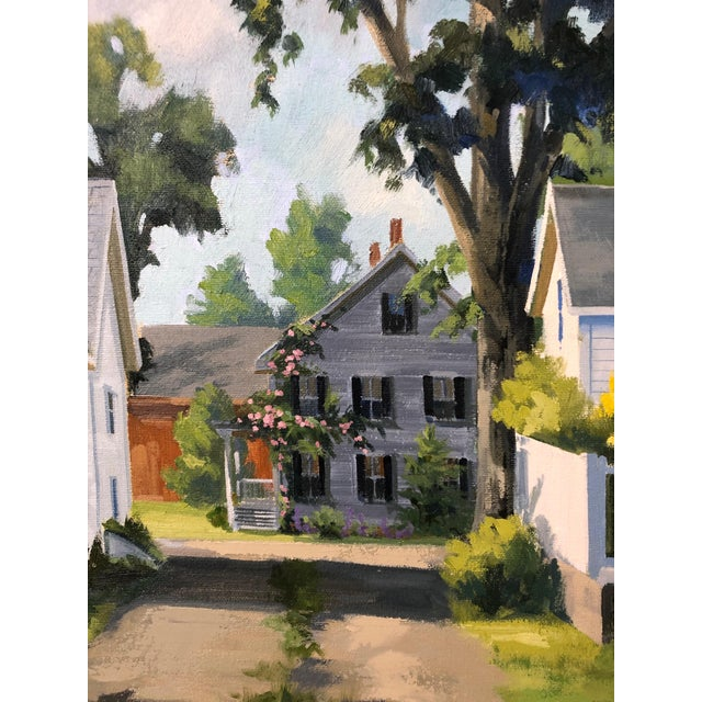 1990s Traditional Sunny Afternoon Original Painting by Line Tutwiler For Sale - Image 5 of 11