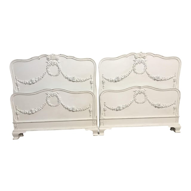 Vintage Shabby Chic Twin Bed Frames A Pair Chairish