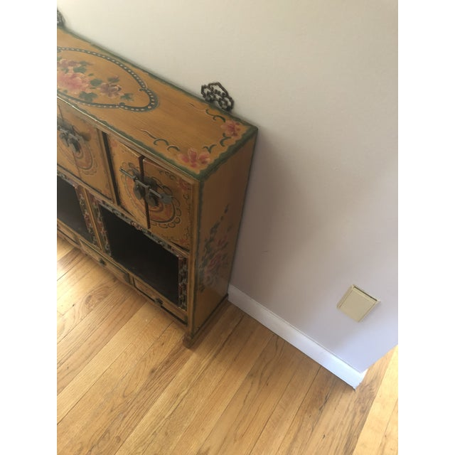 19th Century Antique Wood Cabinet For Sale - Image 4 of 8