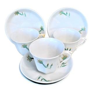 Antique Cups & Saucers - 7 Pieces For Sale