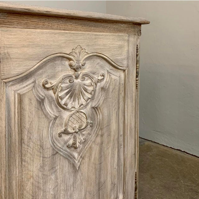 Antique French Louis XV Whitewashed Buffet For Sale In Dallas - Image 6 of 13