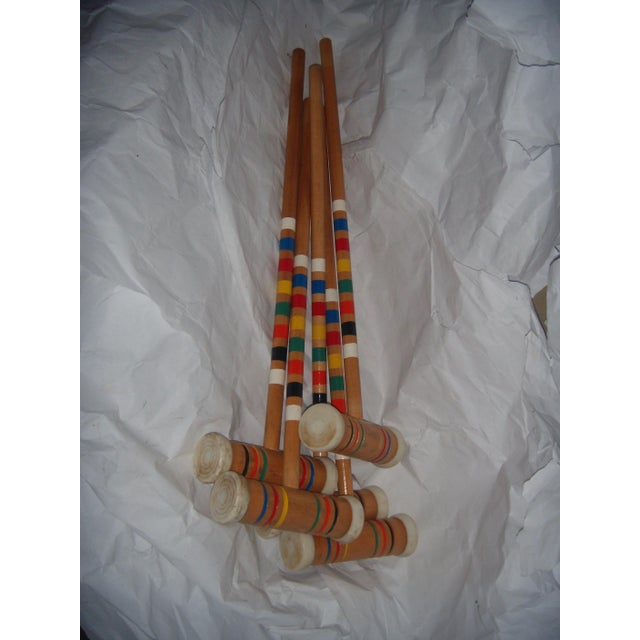 Vintage Croquet Mallets - Set of 5 - Image 4 of 7