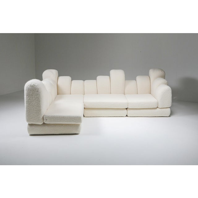1970s Hans Hopfer 'Dromedaire' Sectional Sofa in Pierre Frey Wool, Roche Bobois - 1974 For Sale - Image 5 of 12