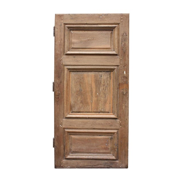 Circa 1800 Rustic Walnut French Door For Sale