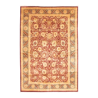 Classic Hand-Knotted Red Rug For Sale