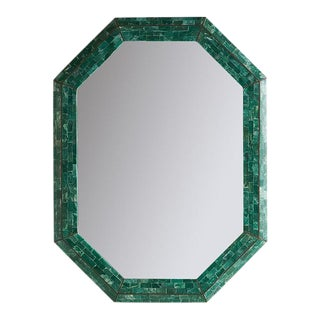 Tessellated Green Marble Mirror by Maitland Smith