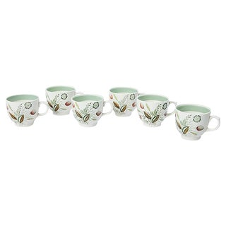 Miniature Floral Teacups - Set of 6 For Sale