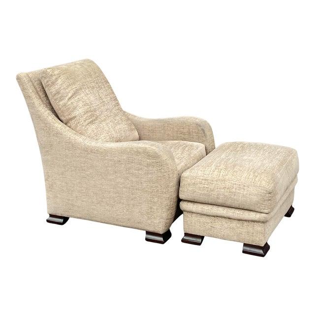 RJones Lounge Chair & Ottoman For Sale