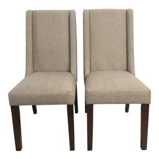 Madison Park Upholstered Dining Chairs - A Pair For Sale