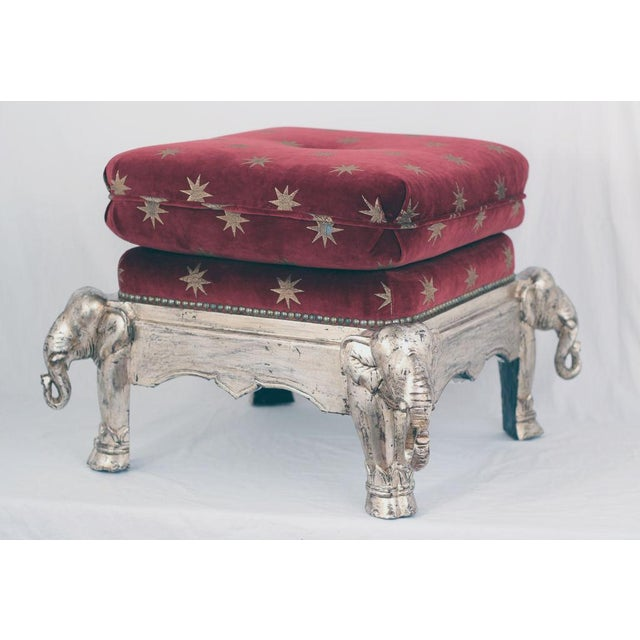 Vintage Silver Gilt Elephant Stool - Image 2 of 5