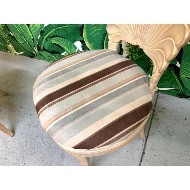 Wood Italian Decorative Venetian Shell Back Dining Chairs, Set of 6 For Sale - Image 7 of 8